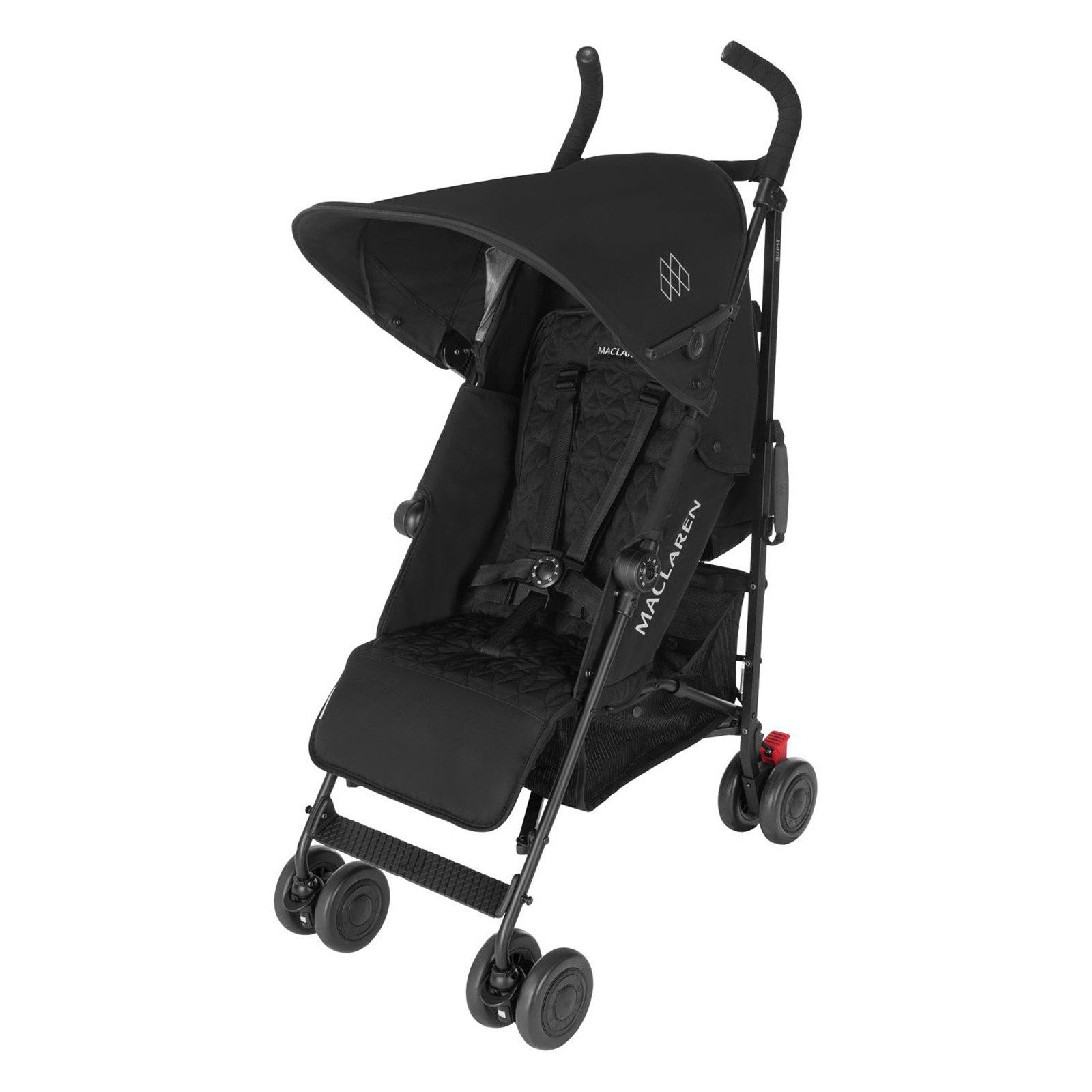 Maclaren Quest Lightweight Stroller Black Black Errands and day long adventures with baby are easier when you have the Maclaren Quest Black Black