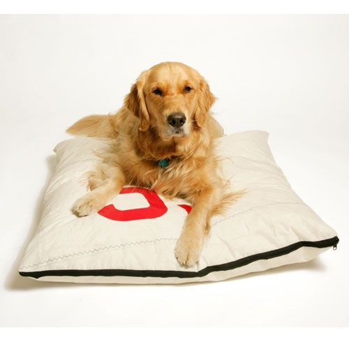 Dog Bed Duvet Cover Made Of Sailcloth Great For A Beach House Or Cottage Upcycled Pet Bed Covered Dog Bed Dog Bed Duvet