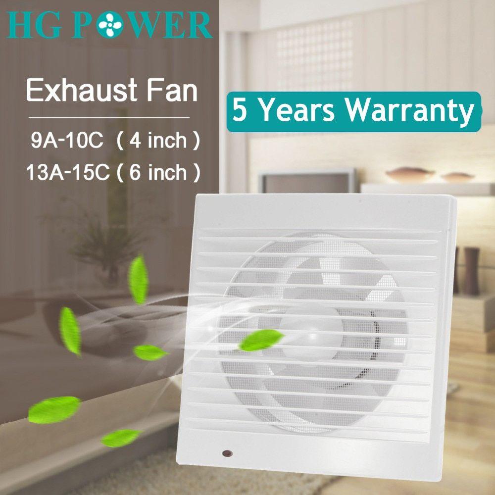 6 inch silent exhaust fan ventilator