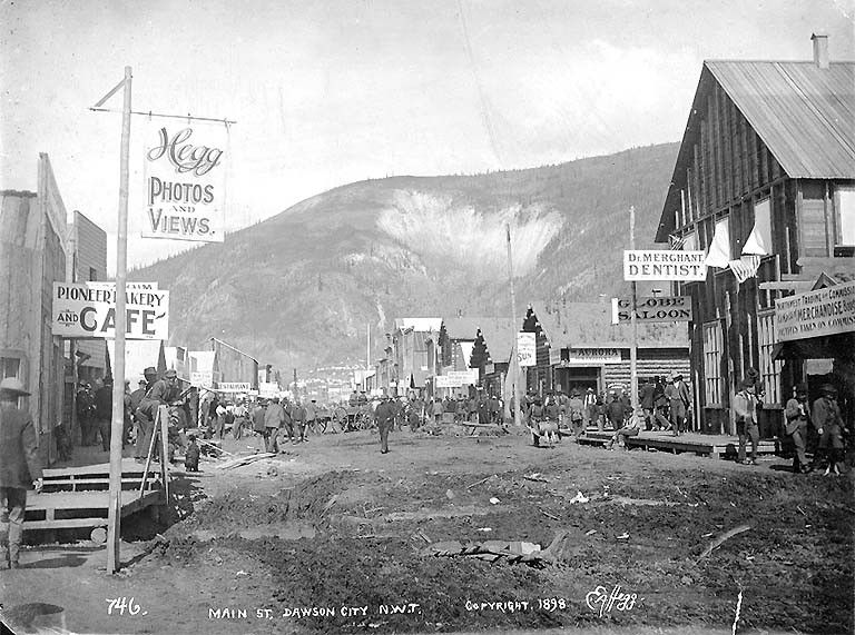 Main St Dawson City Yukon Territory 1898 Dawson City Yukon Dawson Klondike