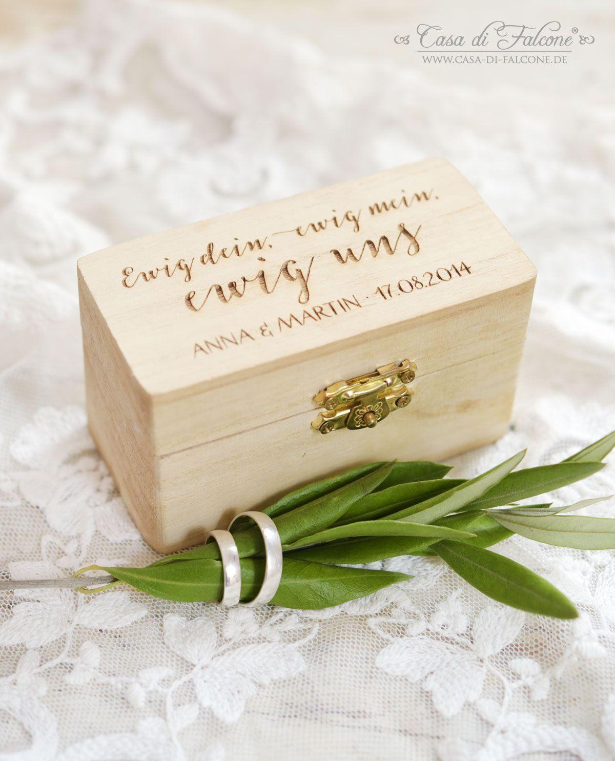 Die Rustikale Ringbox Aus Holz Ist Eine Wunderbare Alternative Zum