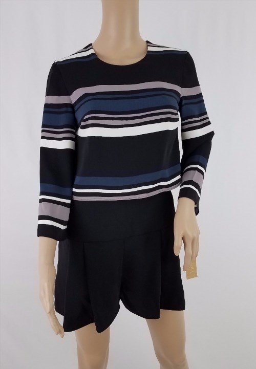 25.00$  Watch now - http://viira.justgood.pw/vig/item.php?t=3fkdp653795 - Rachel Roy Women's Layered Combo Romper Blooms and Stripes Forever Black Size 0
