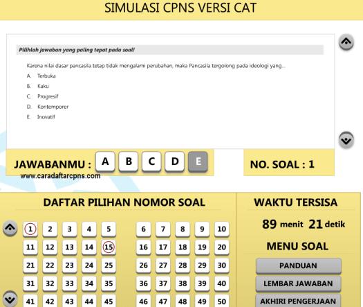 Kumpulan Soal Cpns Cat 2014 Gratis