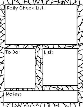 These coloring Daily Checklists are so fun! Such a fun way to make lists and keep track of your day!