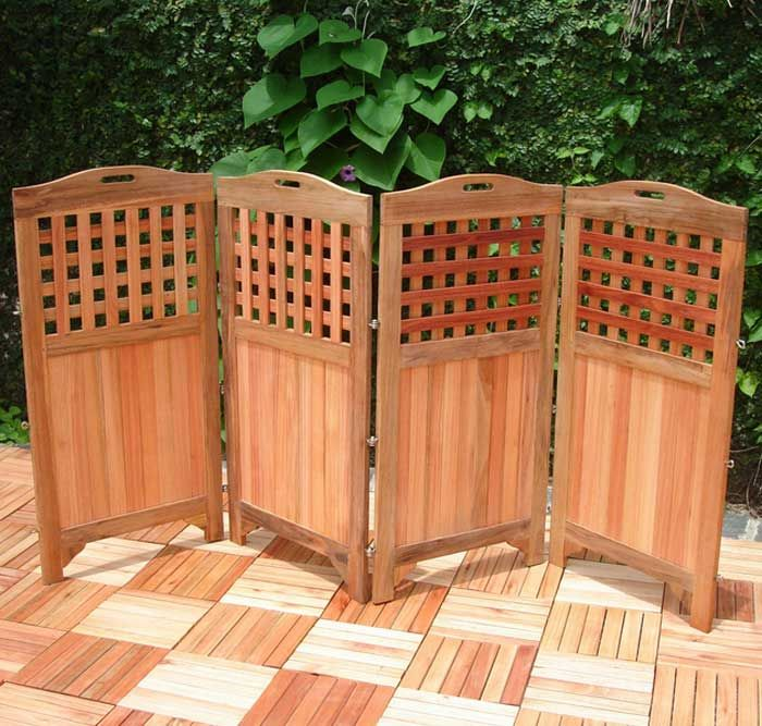 Outdoor room dividers privacy screens design ideas for for Wood patio privacy screens