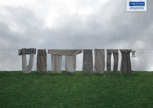 Don't let your clothes look older than they are.  Advertising Agency: Leo Burnett Frankfurt, Germany