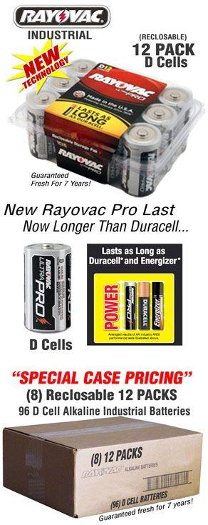 12d Size Ultra Pro Alkaline Industrial Batteries Rayovac Ald 12 Alkaline Batteries Battery Sizes