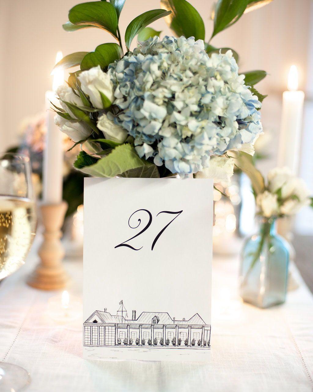 NYC Icon Wedding Table Numbers New York City Wedding