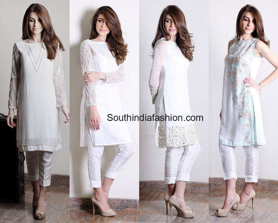 1e0d98dd90 Salwar suits with the cigarette pants, Salwar Kameez with crop pants, cropped  cigarette pants with kurtas, kurtis, tunics, kurta with crop pant