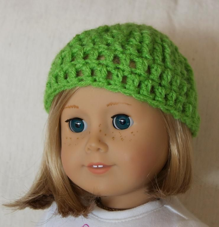 Free crochet hat pattern for American Girl dolls ahh I can ...