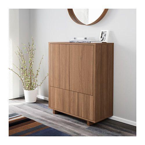 stockholm schrank mit 2 schubladen nussbaumfurnier. Black Bedroom Furniture Sets. Home Design Ideas