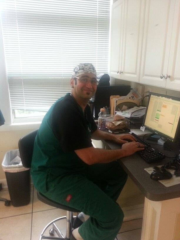 Dr. Hooman Pooya hard at work. Our Veterinary Hospital