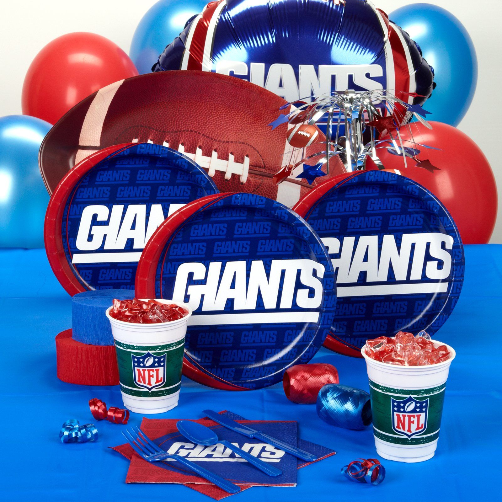 eed5a29ceaa New York Giants Party Supplies | Boys B-days | New York Giants, New ...