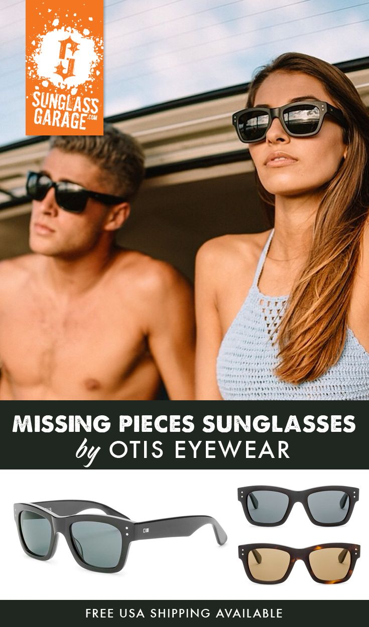 c357413eaff Otis Missing Pieces Sunglasses by Otis Eyewear are both bold and masculine  in style. They keep a casual yet smart look going for you all day long.