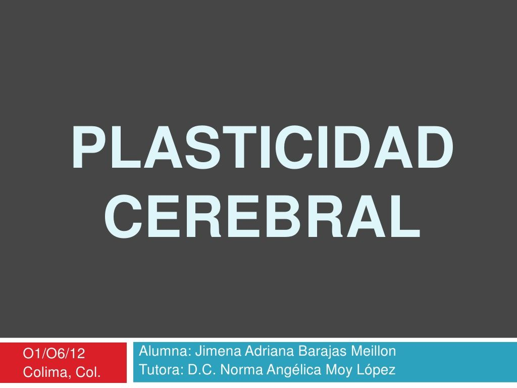 Plasticidad cerebral by Jimee 'Meillon via slideshare