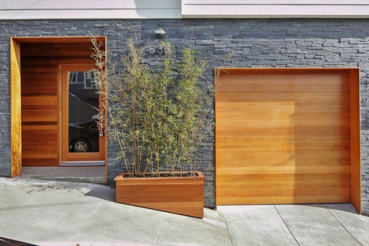 bambus im kbel als sichtschutz und deko auf der terrasse - Sichtschutzzaun Fur Ausenbereich Haus Dekoration Ideen Landschaft Garten Und Terrasse