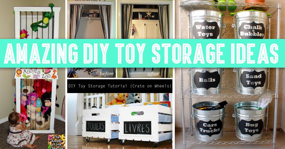 30+ Amazing DIY Toy Storage Ideas For Crafty Moms U2013 Cute DIY Projects