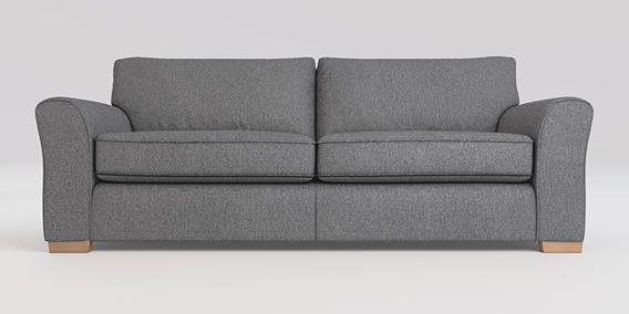 Michigan Extra Large Sofa 4 Seats Tweedy Blend Mid Grey Slim Block Light From The Next Uk Online