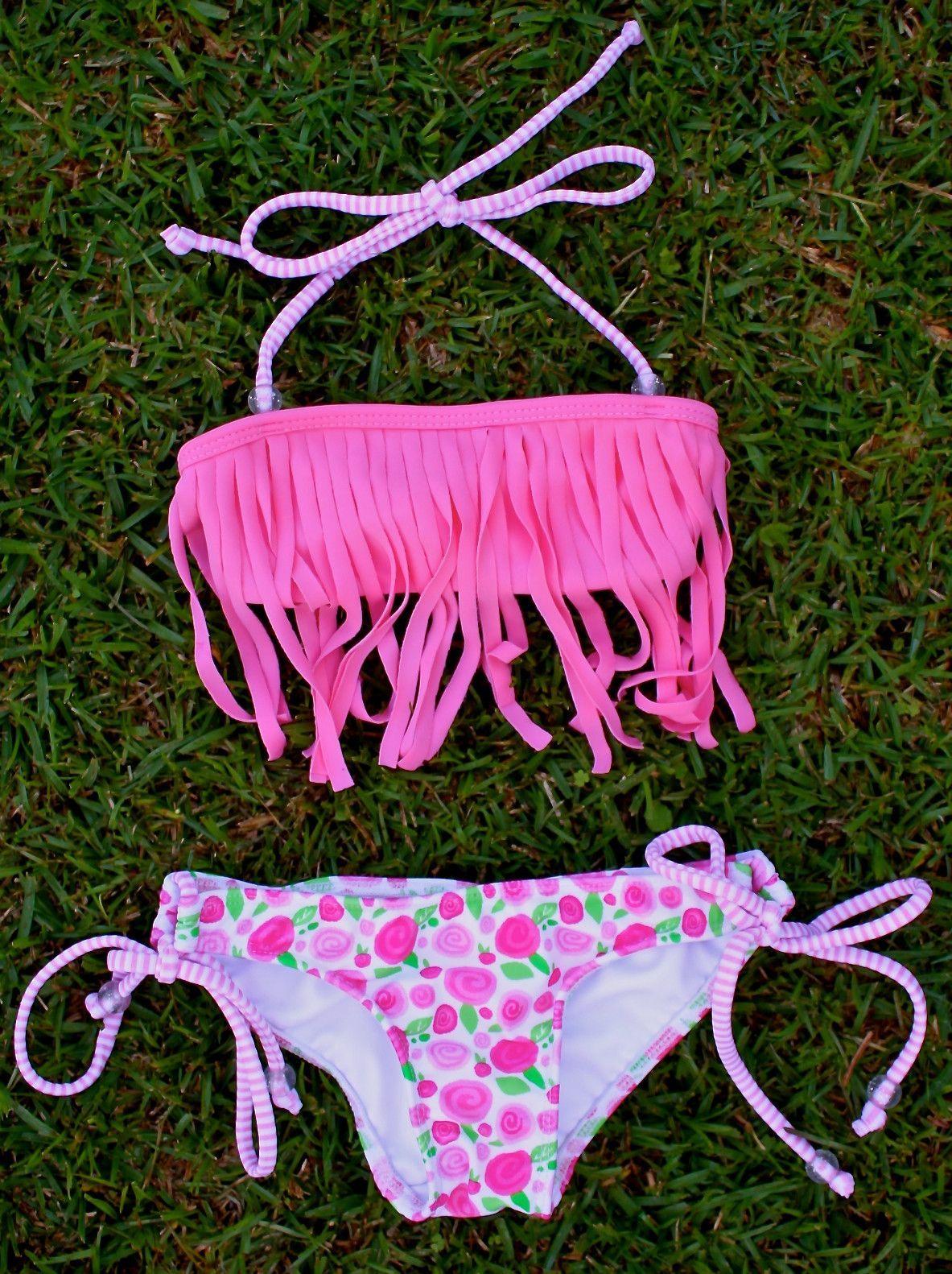 Fringe Bikini Traje De Bano Nina Moda De Trajes De Bano Trajes
