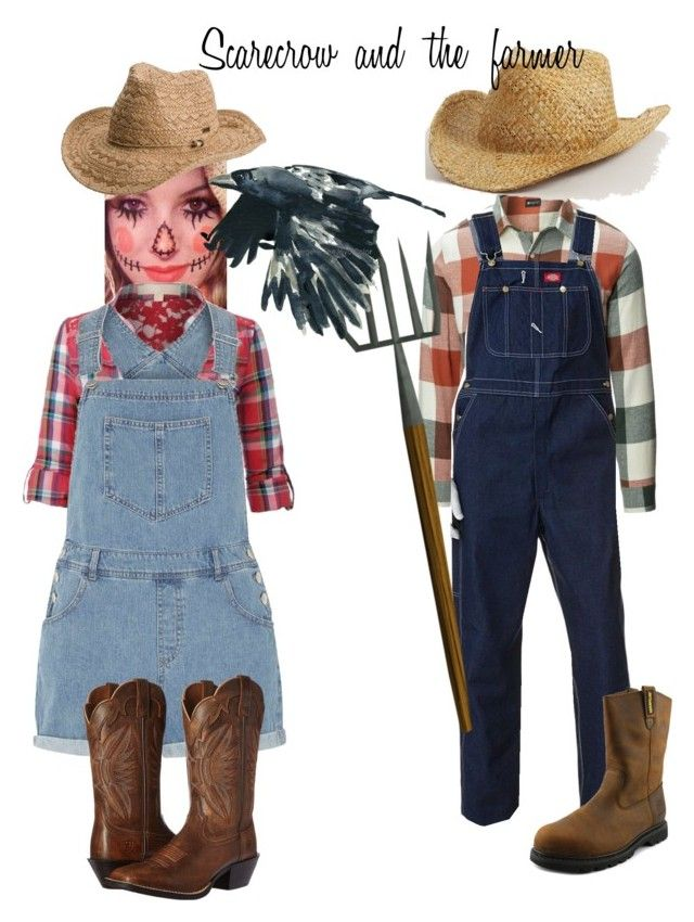 Couples costume scarecrow and the farmer scarecrows costumes halloween ideas couples costume scarecrow and the farmer by anaylajade on polyvore featuring le3no solutioingenieria Choice Image