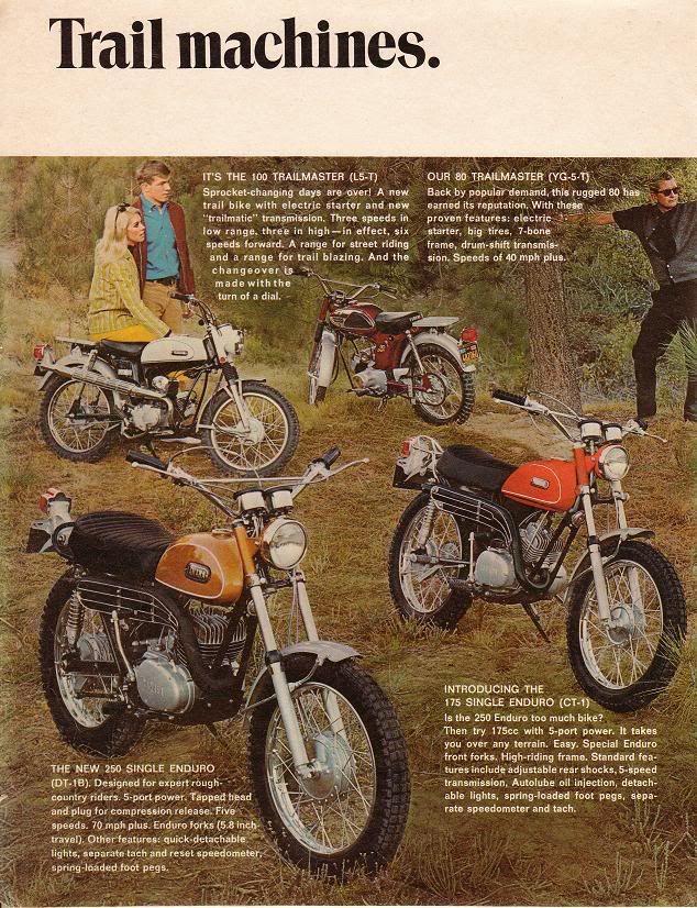 Vintage Literature Yamaha Trail Bike Yamaha Bikes Vintage Bikes