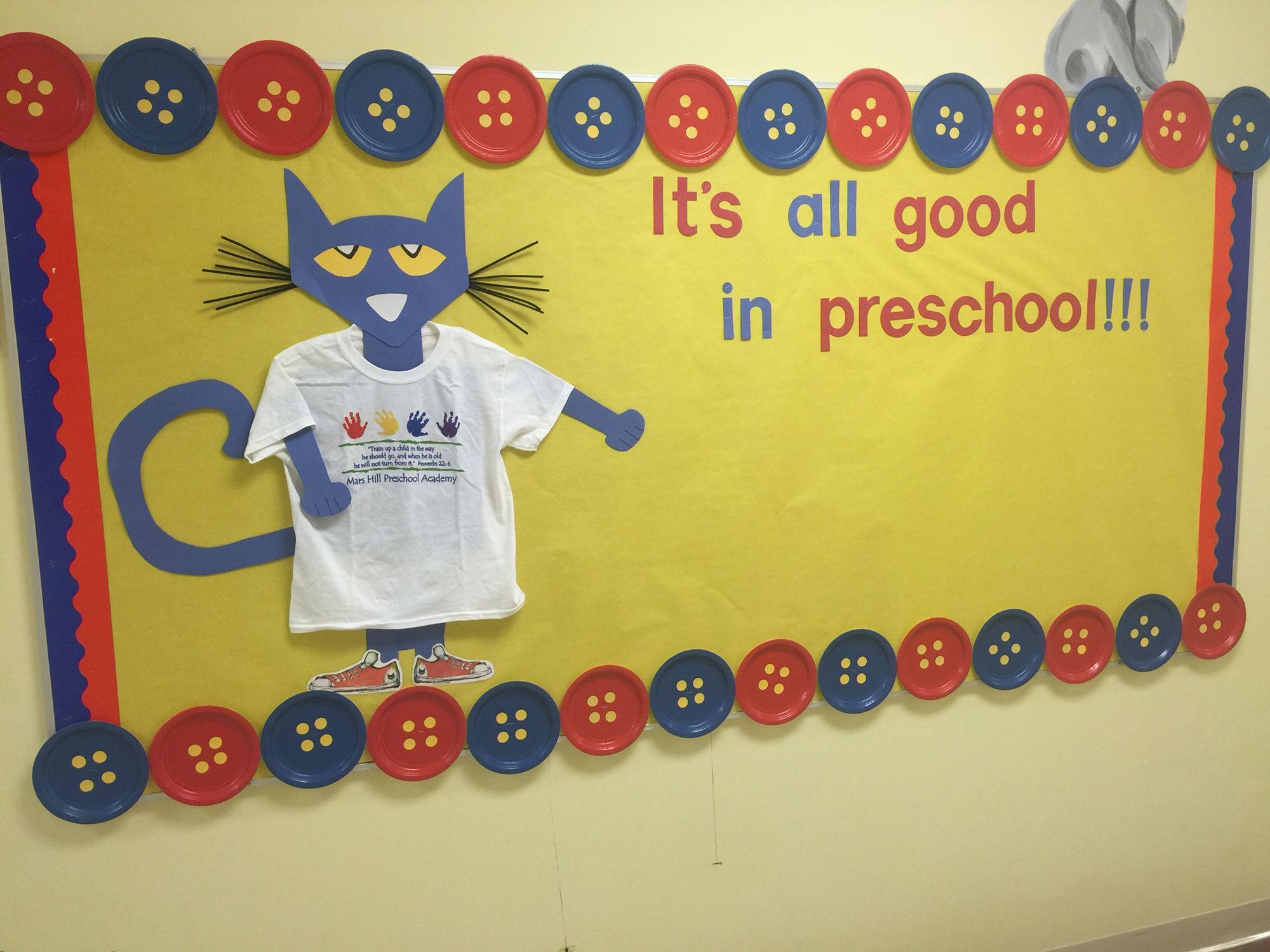 Pete The Cat Bulletin Board Preschool