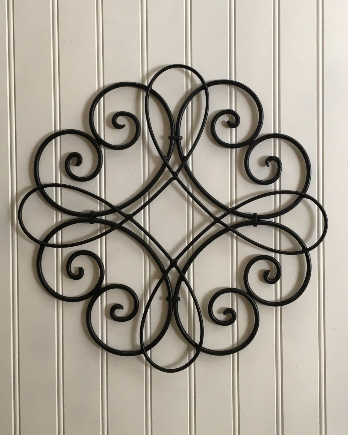 Metal Wall Decor Scroll Metal Decor Black Wall Decor Metal Wall