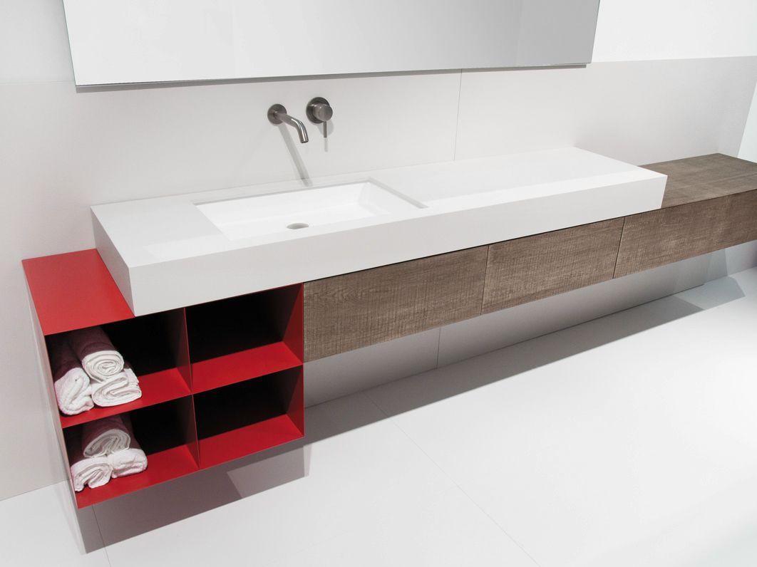 Mobili Rovere ~ Mobile lavabo sospeso in rovere con ante block2 collezione block2