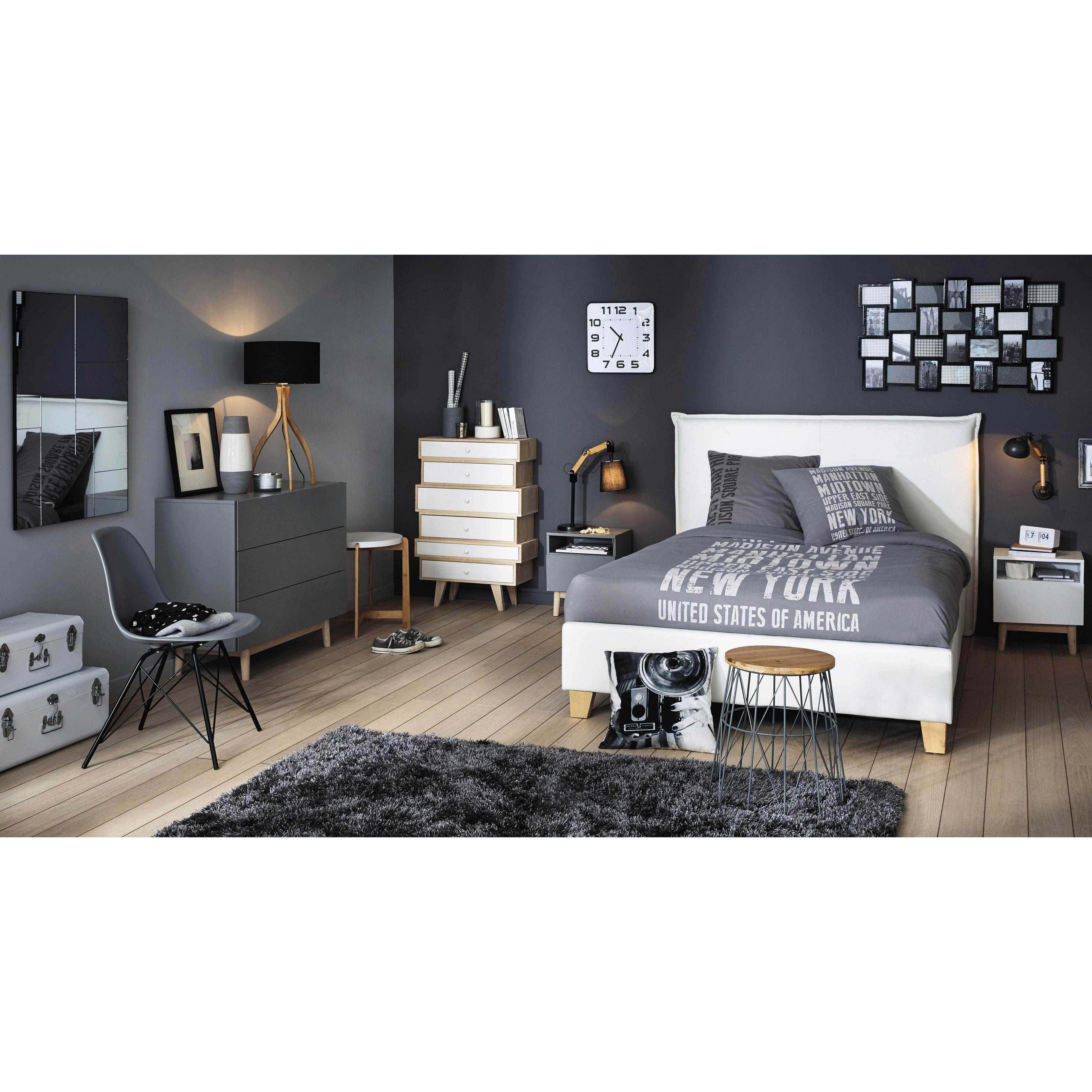 Nachttisch Im Vintage Stil Aus Holz, B 40 Cm, Grau Artic | Maisons