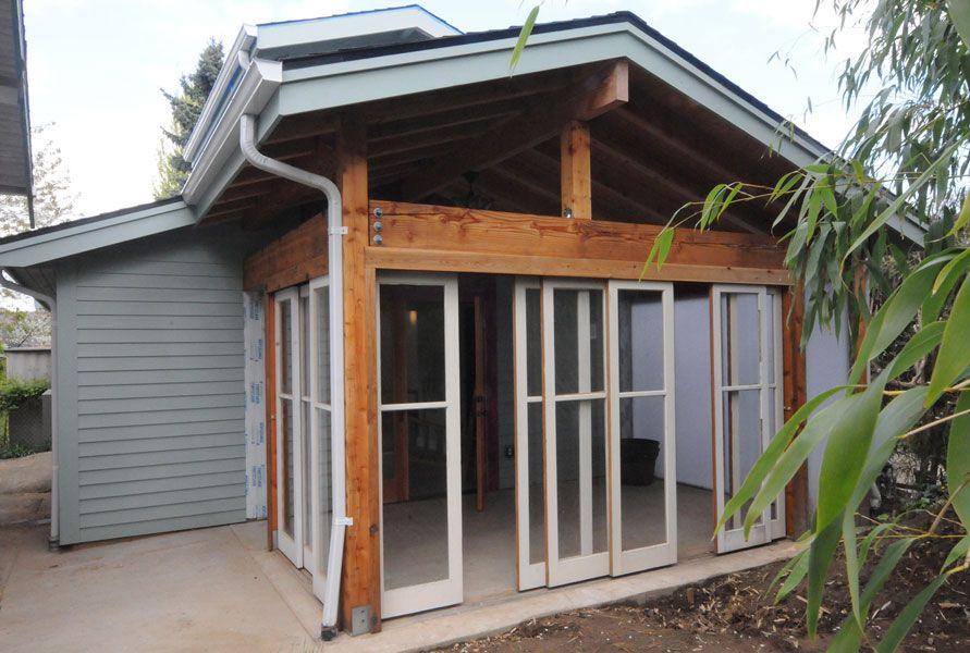 Portland Adu Garage Conversion By Hammer Hand 3 Season Patio Inspiration Building A House Backyard Cottage Patio Inspiration