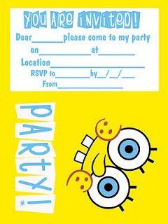Spongebob Coloring Pages Spongebob Birthday Party Invitations Printable Spongebob Birthday Party