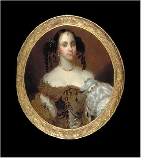Delightful portrait of Catherine of Braganza, wife Charles II
