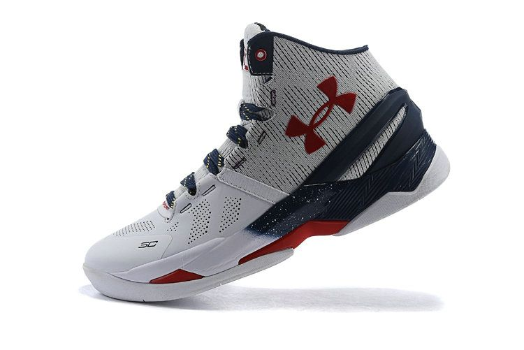 UA Steph Curry 2 Two USA All American Midnight Navy White Red ... 7f678b93c