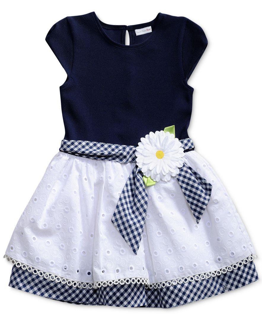 Sweet Heart Rose Gingham Sash Drop Waist Dress Toddler Girls 2t 5t Toddler Girl Dresses Toddler Designer Clothes Kids Dress [ 1080 x 884 Pixel ]