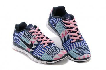 half off b998c e4f99 Authentic Nike Shoes For Sale, Buy Womens Nike Running Shoes 2014 Big  Discount Off Nike Free TR Fit 3 Print Blue Pink White Womens Shoes   -