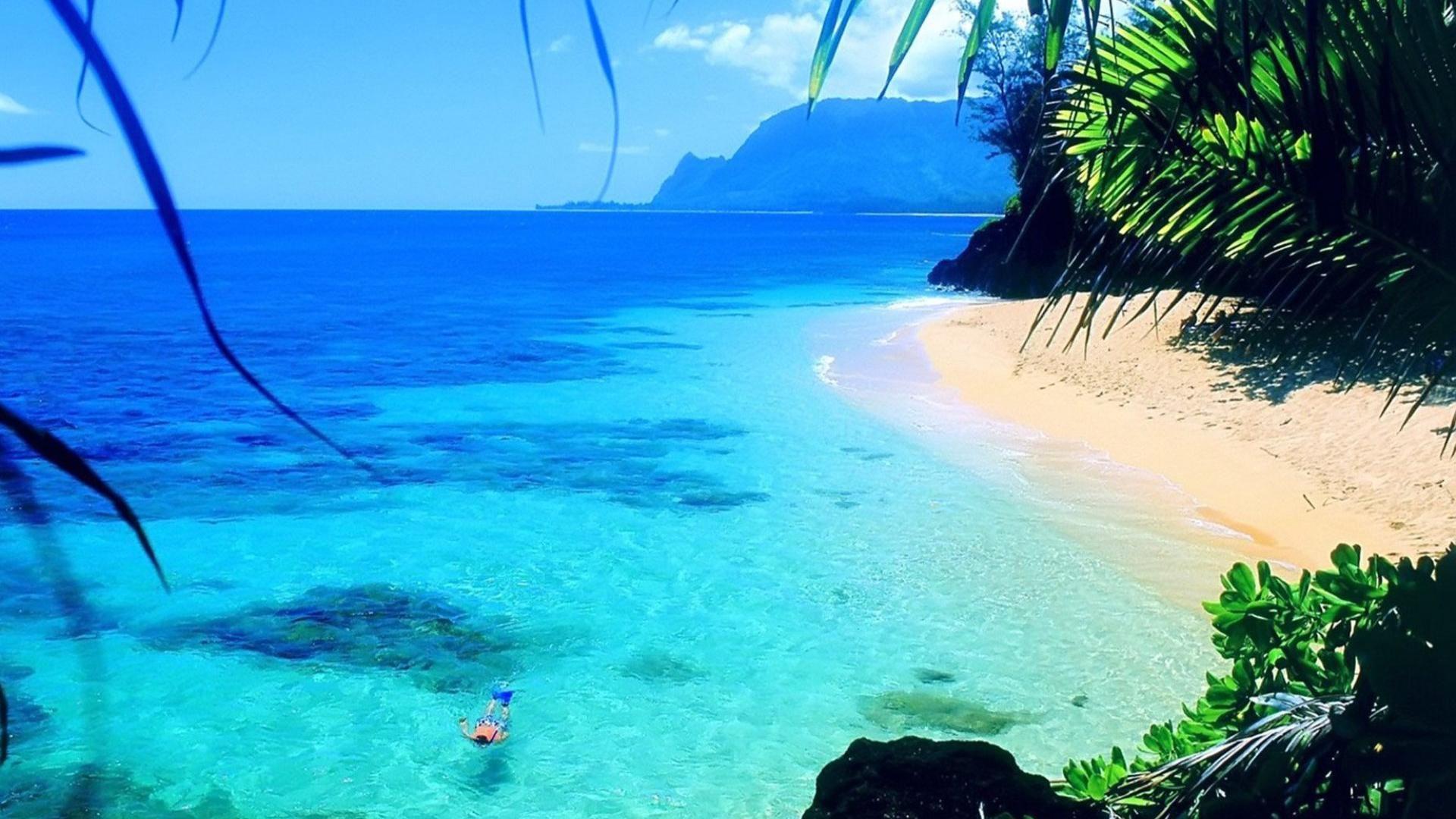 Скачать картинки море пляж обои на рабочий стол 1920x1080 ...