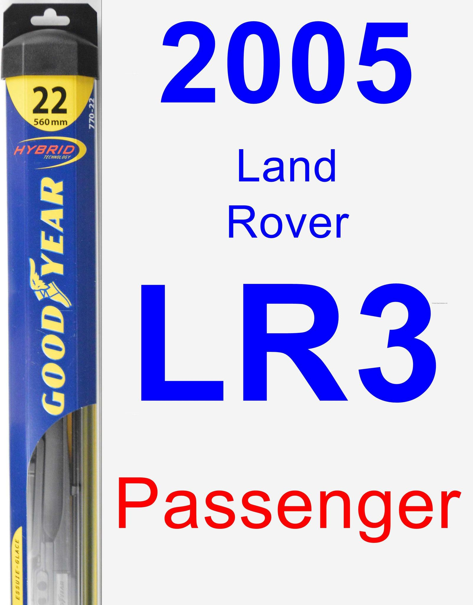 Passenger Wiper Blade for 2005 Land Rover LR3 - Hybrid
