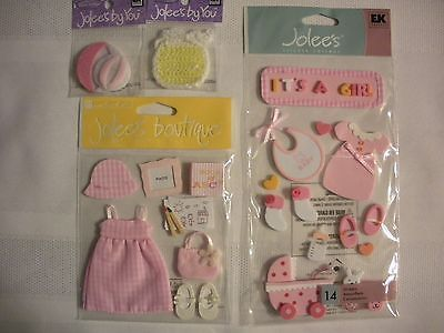 IT'S A LITTLE GIRL! 8 PACK-- BY JOLEE'S AND MORE!