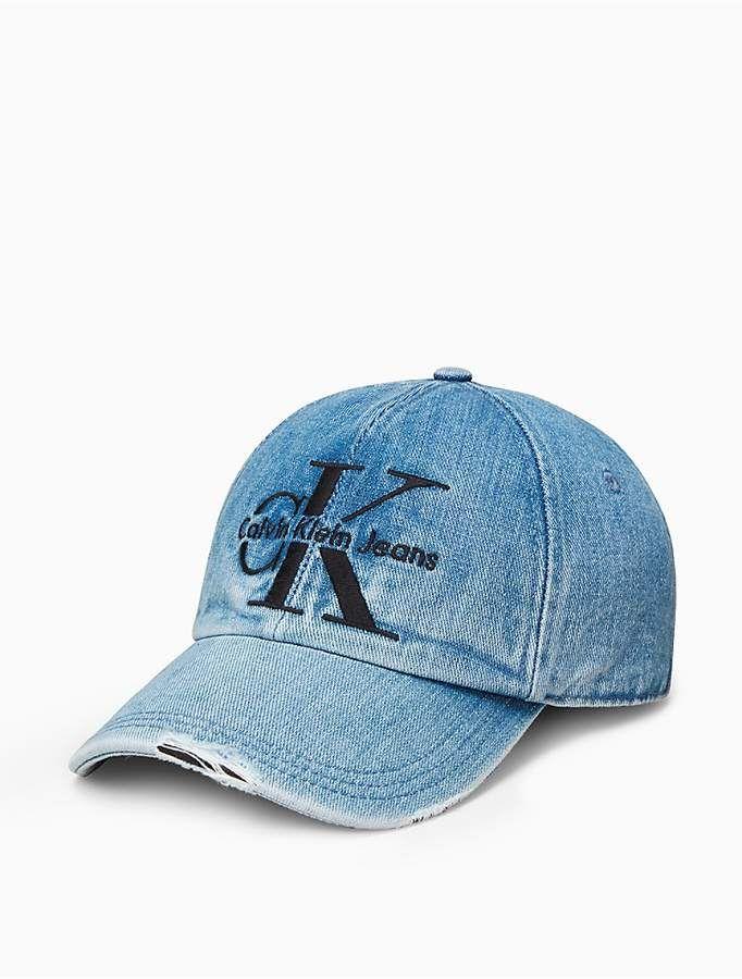 0f9489a0 Calvin Klein Monogram Logo Denim Hat | Calvin Klein Brand in 2019 ...