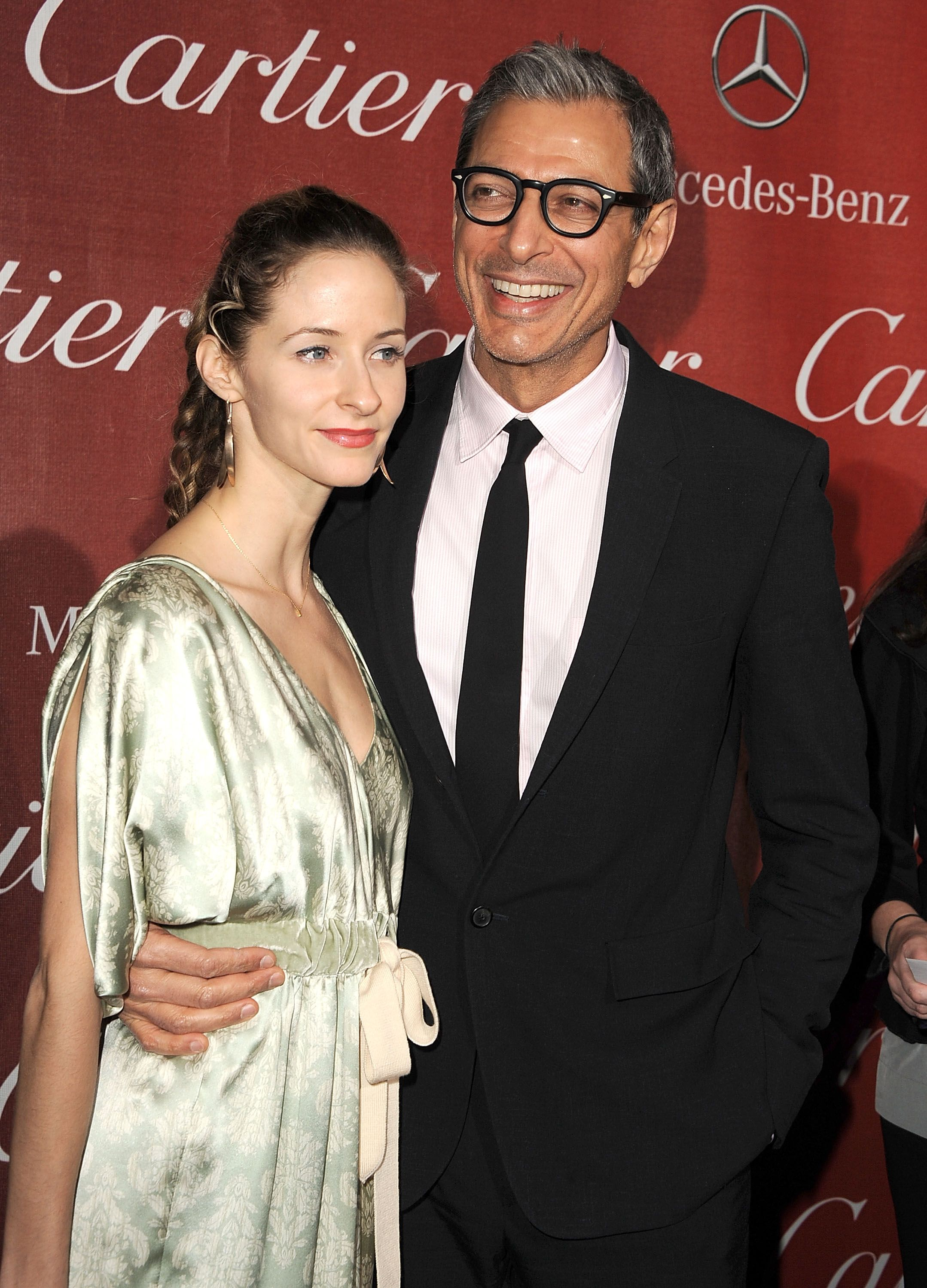 Jeff Goldblum and his wife Emilie Livingston with their son Charlie.  (Photo: Greatstock/Splash)