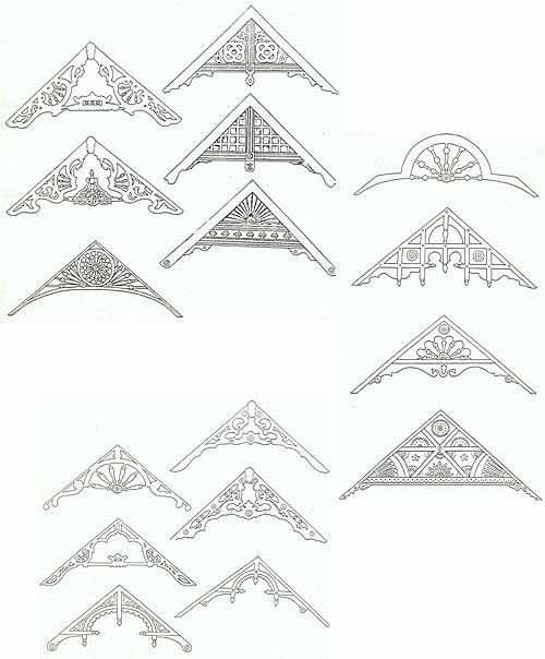Gable decorations victorian mansion 39 s pinterest for Victorian gable decorations