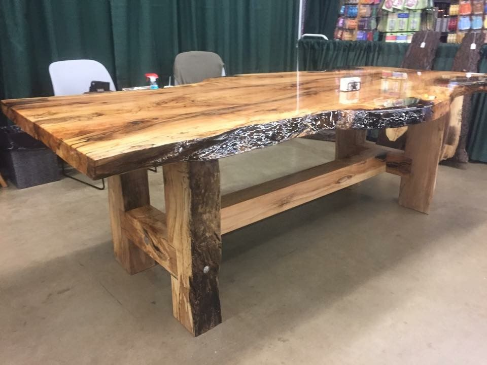 Spalted Sugar Maple With A Bar Top Finish Wood Table Diy
