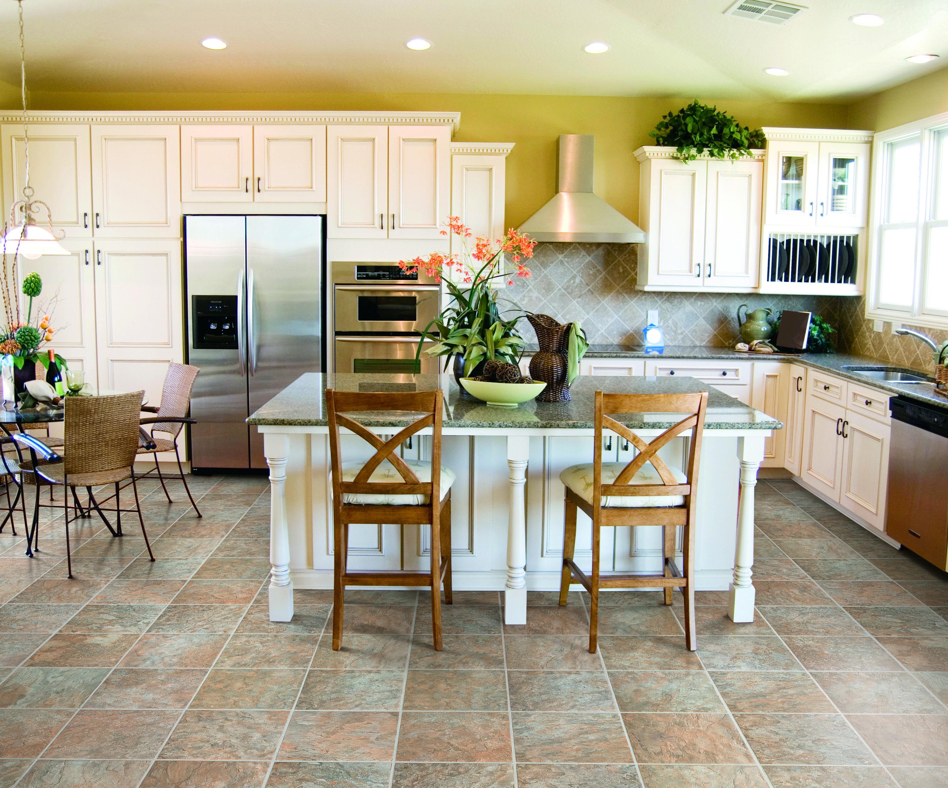 Sierra Slate Tiles from Lowe's Canada Antique kitchen