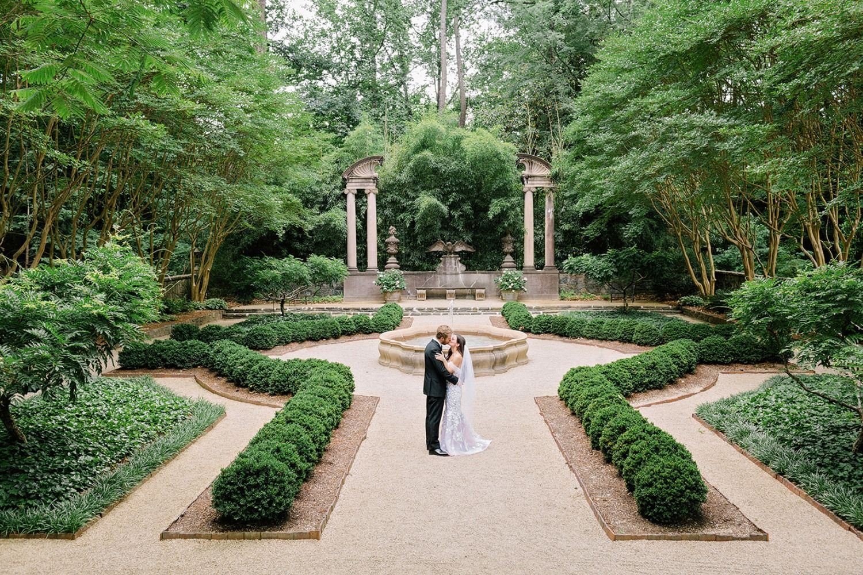 Blush and grey garden wedding at the swan house garden