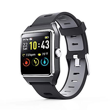 Enacfire Smart Watch W2 Gps Fitness Tracker Ip68 Waterproof Smartwatch Heart Rate Monitor Sleep Tr Waterproof Fitness Tracker Gps Fitness Tracker Smart Watch