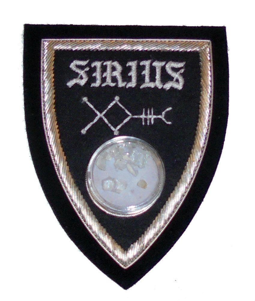 Behenian Fixed Star Symbol SIRIUS with Beryl Crystal Cap