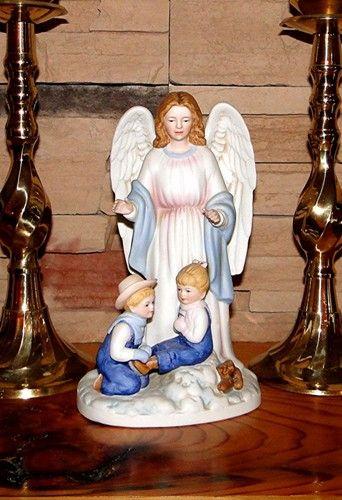 Denim Days Guardian Angel Home Interiors Homco Christmas 8822