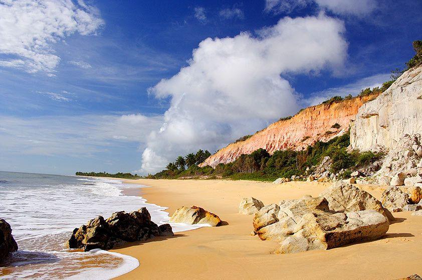 Praia do Rio da Barra, em Trancoso, perto de Arraial D'Ajuda, na Bahia