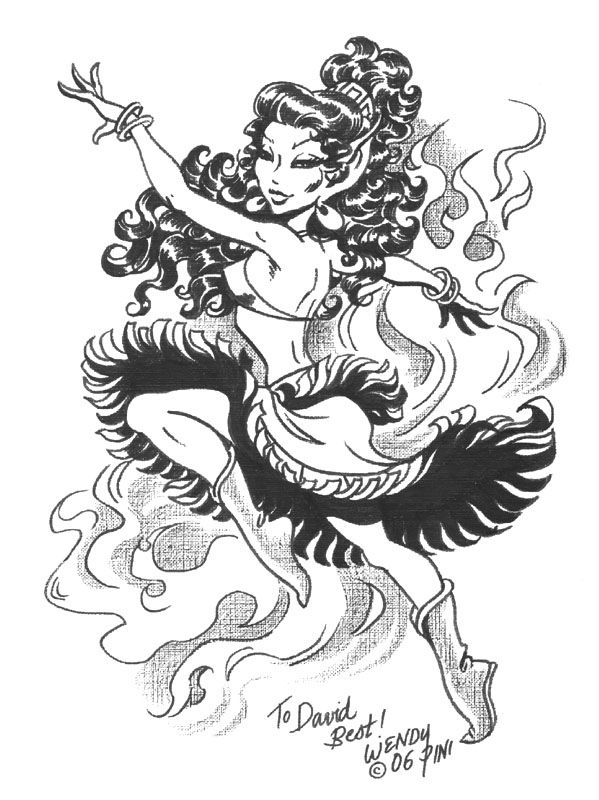 Wendy Pini: Leetah dancing sketch Comic Art   Elfquest   Pinterest ...