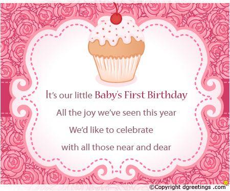 1st Birthday Birthday Invitation Message Birthday Invitations Party Invite Template
